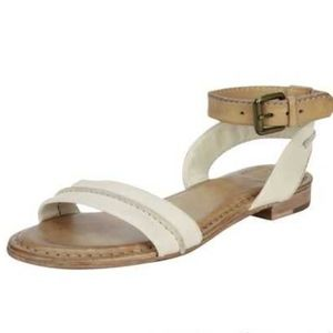 Frye Phillip Seam Ankle Wrap Flat Dress Sandal
